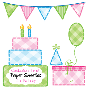 2ndBirthday Paper Sweeties August Inspiration Challenge #22   Lets Celebrate