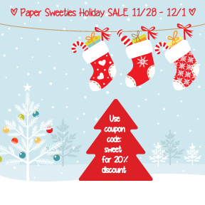newproducts Paper Sweeties December 2014 Inspiration Challenge #26   Happy Holidays