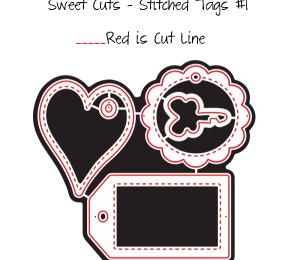 Sweet Cuts – Stitched Tags #1